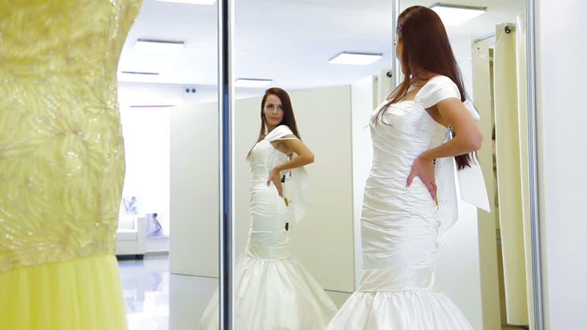 Young Attractive Bride Trying On Stock Footage Video 100 Royalty Free 2818372 Shutterstock