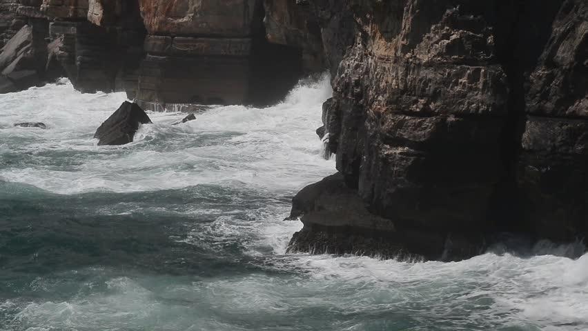 Cliff and Sea, Cascais, Cliff, Lisbon, Portugal | Shutterstock HD Video #28208272