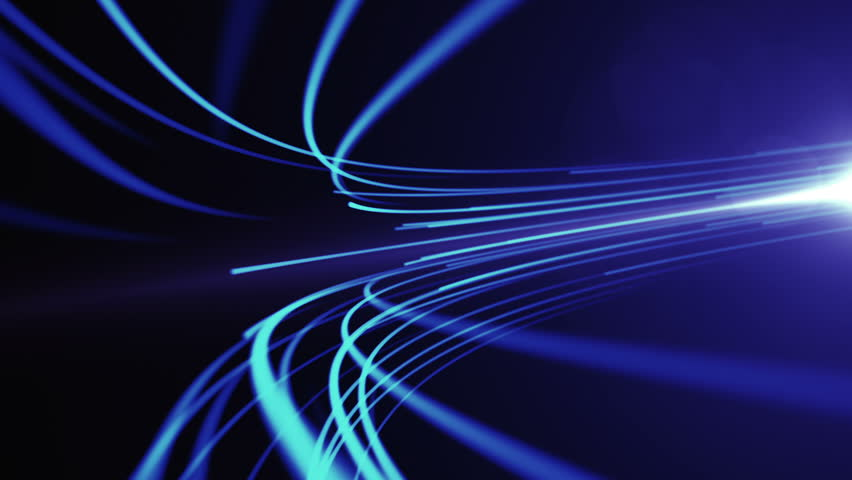 Abstract background with animation moving of lines for fiber optic network.