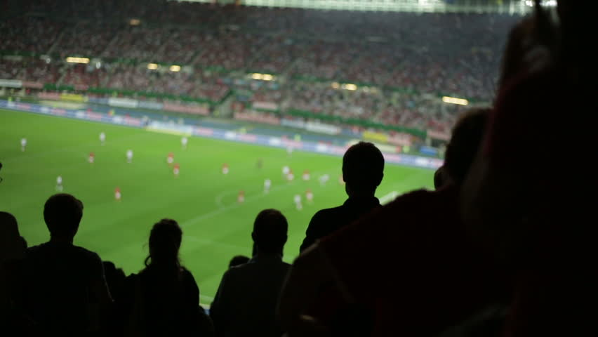 Soccer fans in stadium | Shutterstock HD Video #2822752