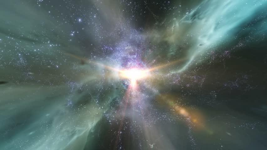 HD - Traveling through star fields in deep space (Loop).