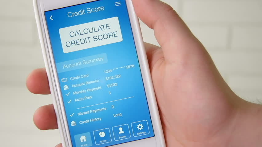 Checking credit score on smartphone using application. The result is POOR | Shutterstock HD Video #28508332