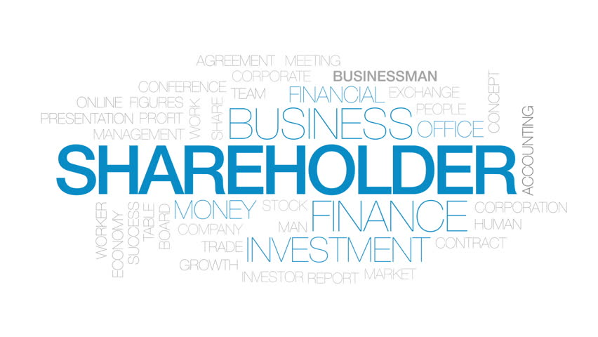Shareholder animated word cloud, text design animation. Kinetic typography.   Shutterstock HD Video #28625332