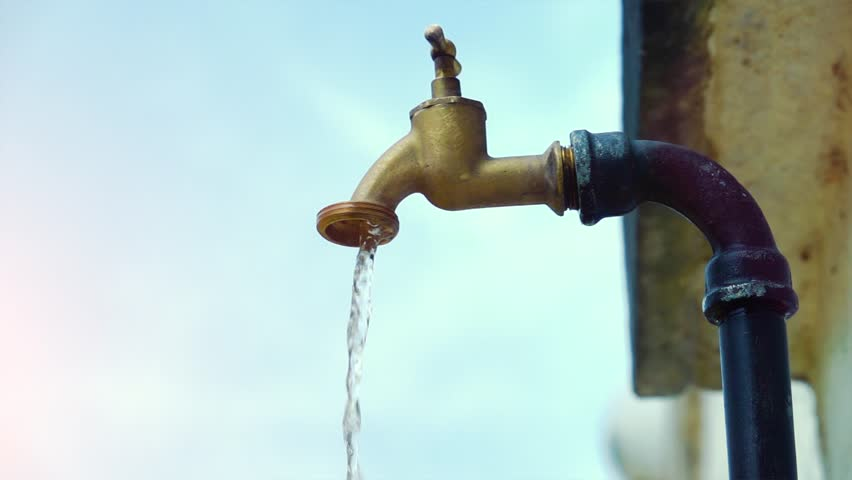 Super slow motion shot of exterior tap water dripping and splash on a hot summer day | Shutterstock HD Video #28629172