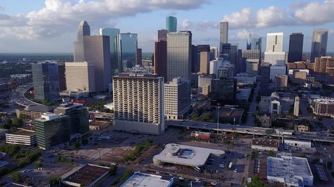 Downtown Houston aerial drone video