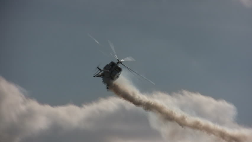 Helicopter and smoke trail | Shutterstock HD Video #286993