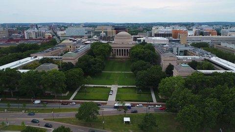 Aerial video Boston Killian Court 4k 60p