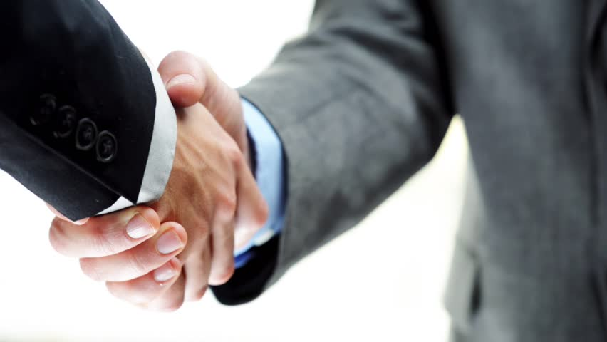Businessmen Shaking Hands Business Deal ...