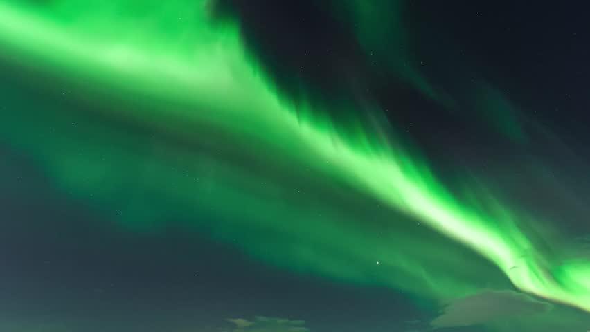 Northern Lights (Aurora borealis), nature, nice green futuristic northen light in dark clouds, color skies, fast moving light in skies, nature green sky.