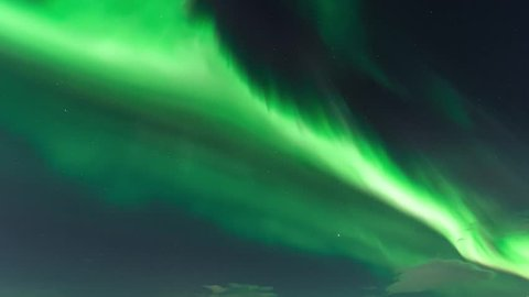 Northern Lights (Aurora borealis), nature, nice green futuristic northen light in dark clouds, color skies, fast moving light in skies, nature green sky.