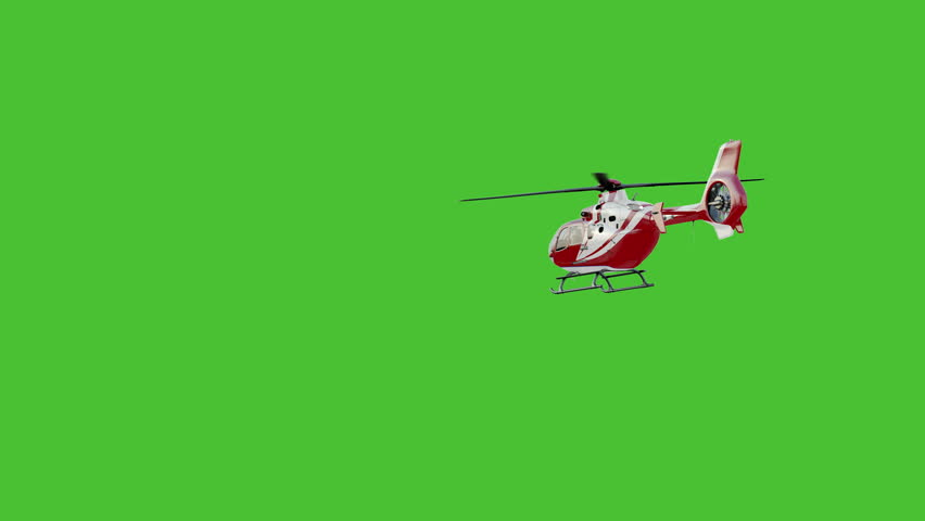 Helicopter on chromakey.Slow motion #28910062