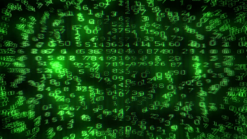 Digital Dollar Matrix. Matrix of digits creating 100 USD picture on computer monitor. Starting with camera moving back from extreme close up of the monitor screen. | Shutterstock HD Video #2892640