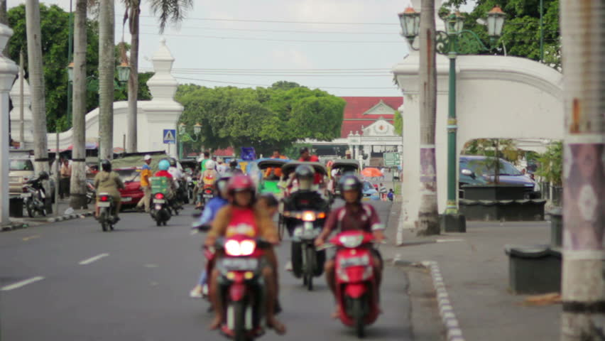 various mopeds and rickshaws in Indonesia #2894719