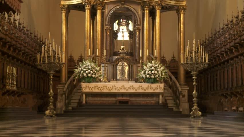 LIMA - CIRCA 2012: Cathedral Interior. - HD stock video clip