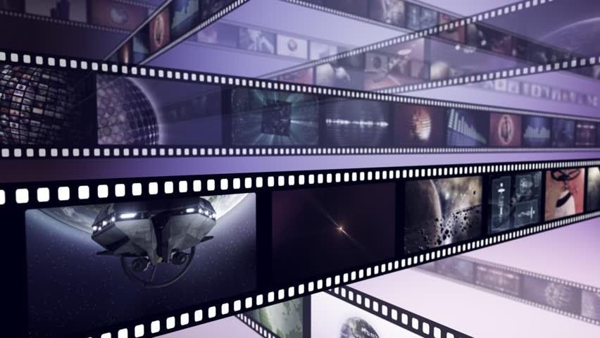 Loop-able creative animation of film reels