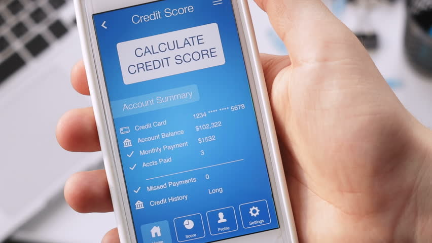 Checking credit score on smartphone using application. The result is VERY GOOD | Shutterstock HD Video #29030542