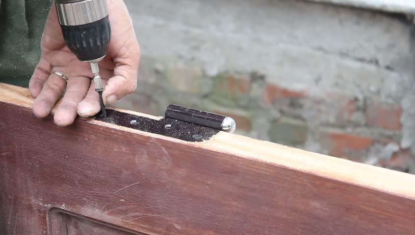 worker used wood planers making wood door - HD stock footage clip & Worker Used Wood Planers Making Wood Door Stock Footage Video ... pezcame.com