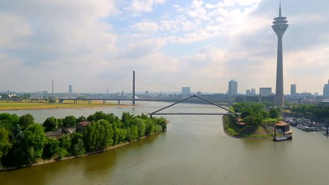 DUSSELDORF. GERMANY. 04 MAY 2017. cityscape with view on media harbor.