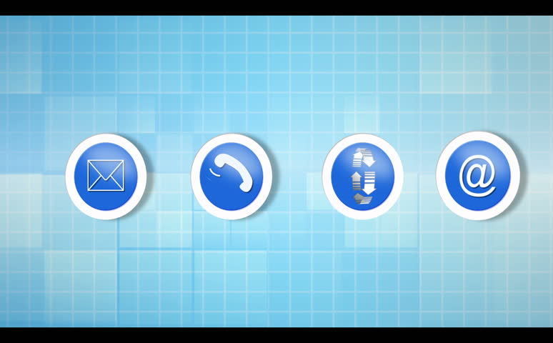 Electronic communication montage animation on blue background | Shutterstock HD Video #2905492