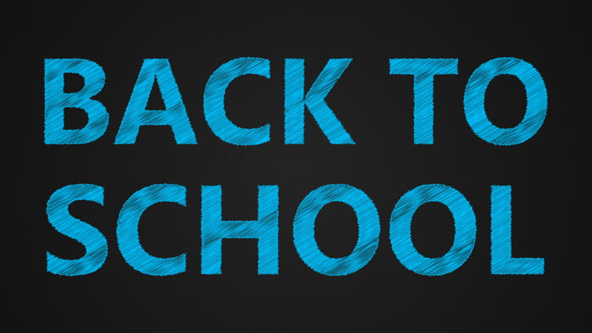 White text Back to school. The effect of the scribble. 3D rendering | Shutterstock HD Video #29086132