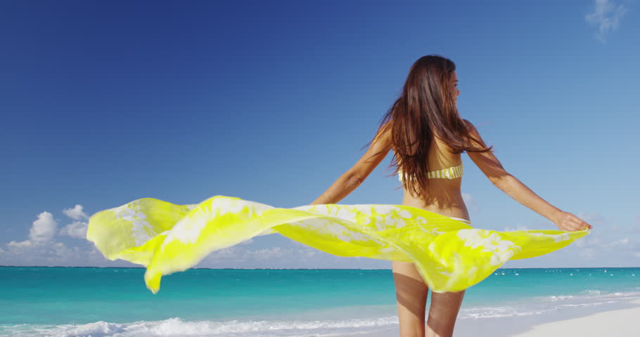 Clothes Free Beache Footage Stock Clips