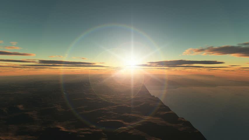 Planet fly sunrise   Shutterstock HD Video #2910952