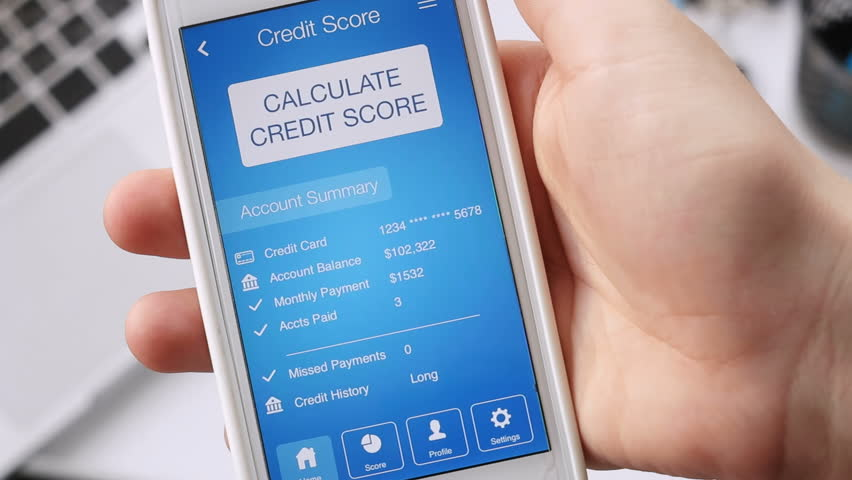 Checking credit score on smartphone using application. The result is POOR | Shutterstock HD Video #29117272