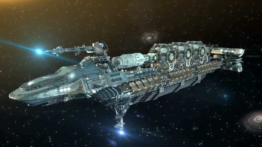 A 3D Futuristic Sequence Of Detailed Alien Spaceship Or Military Spacecraft For Fantasy Games