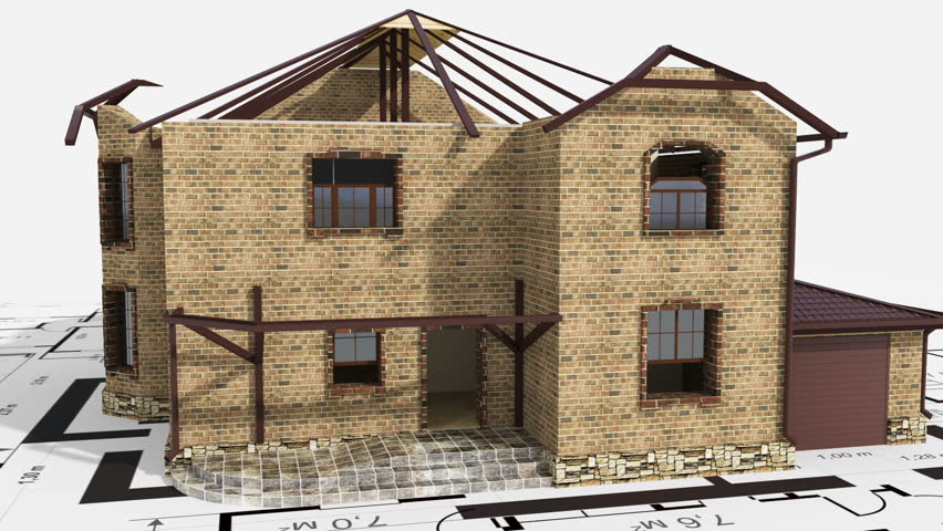 Construction of residential house   Shutterstock HD Video #2922043