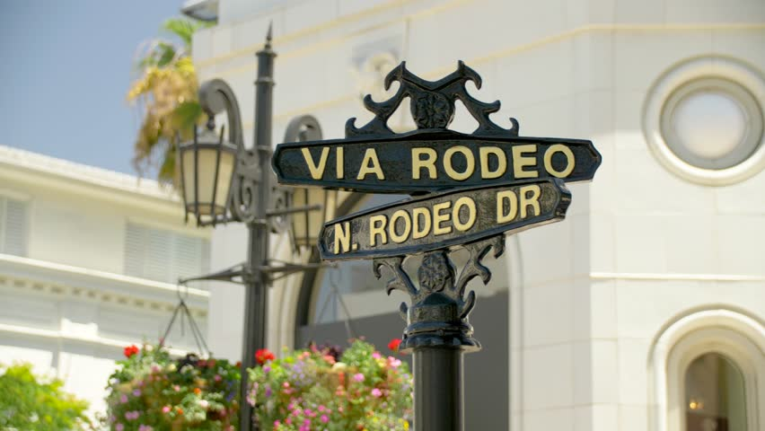 Via Rodeo and N. Rodeo Dr. Sign in Beverly Hills