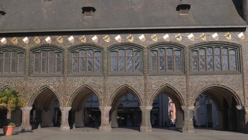 Lubeck city hall and marktplatz, Germany