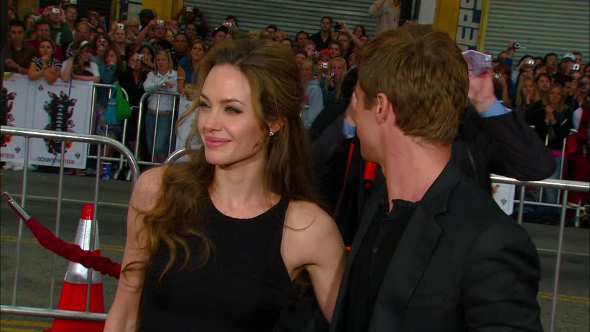 Hollywood, CA - JUNE 05, 2007: Brad Pitt, Angelina Jolie, walks the red carpet at the Oceans 13 Premiere held at the Grauman's Chinese Theatre
