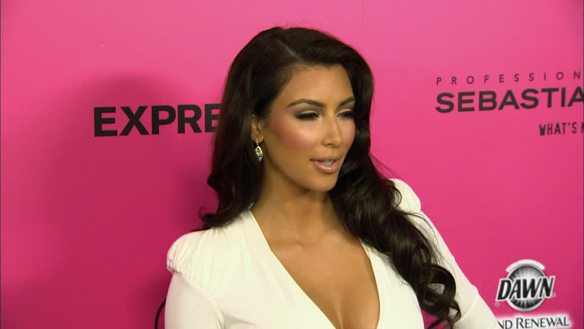 Los Angeles, CA - OCTOBER 11, 2009: Kim Kardashian, walks the red carpet at the The 6th Annual Hollywood Style Awards held at the Hammer Museum