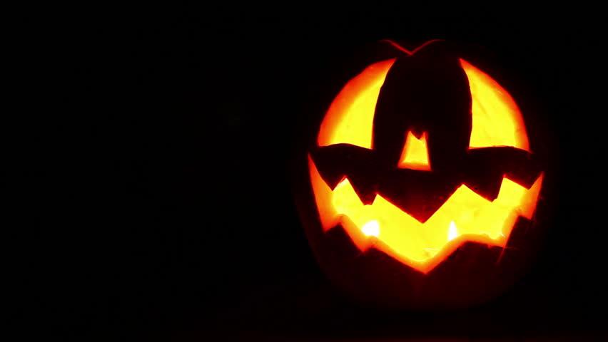 Jack-o'-lantern with Candles inside Lattern HD background Footage in  full Dark   Shutterstock HD Video #2942701