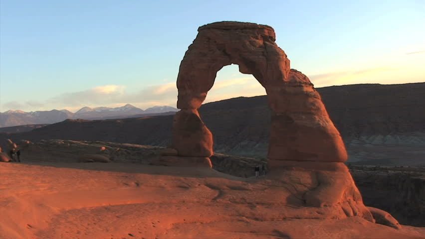 Arches National Park - Delicate Arch at Dusk - Time Lapse