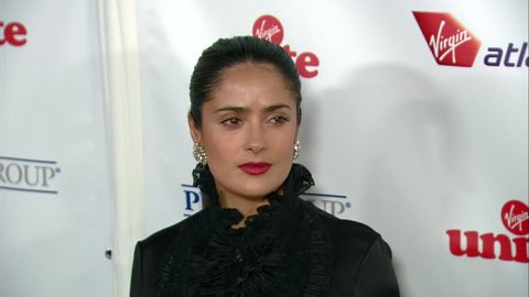Hollywood, CA - OCTOBER 23, 2008: Salma Hayek, walks the red carpet at the Richard Branson's Rock The Kasbah Benefit held at the Hollywood Roosevelt Hotel