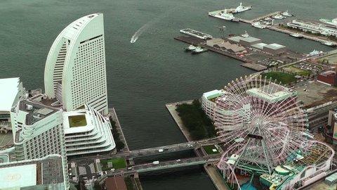Yokohama Aerial Japan from the Minatomirai district