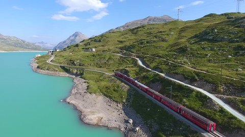 Unesco - Red train of Bernina