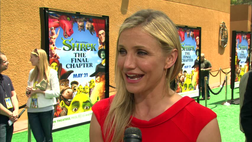 Universal City, CA - MAY 16, 2010: Cameron Diaz walks the red carpet at the Shrek Forever After Premiere held at the Gibson Amphitheatre