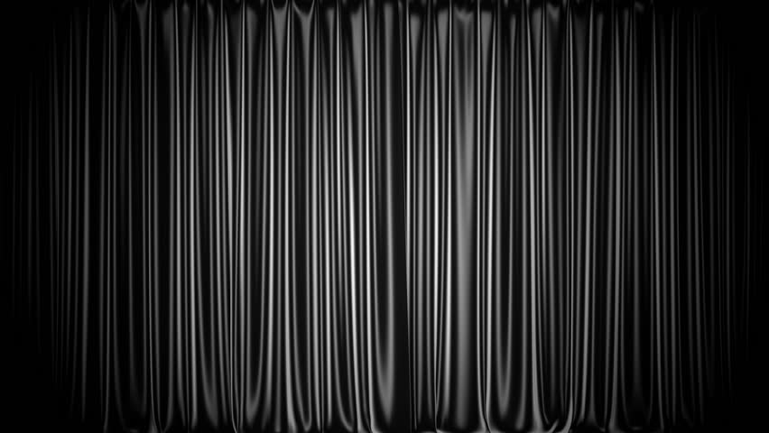 Awesome Black Curtains Part - 11: Black Stage Curtain 3D Animation With Chroma Key And Alpha Matte - HD Stock  Footage Clip
