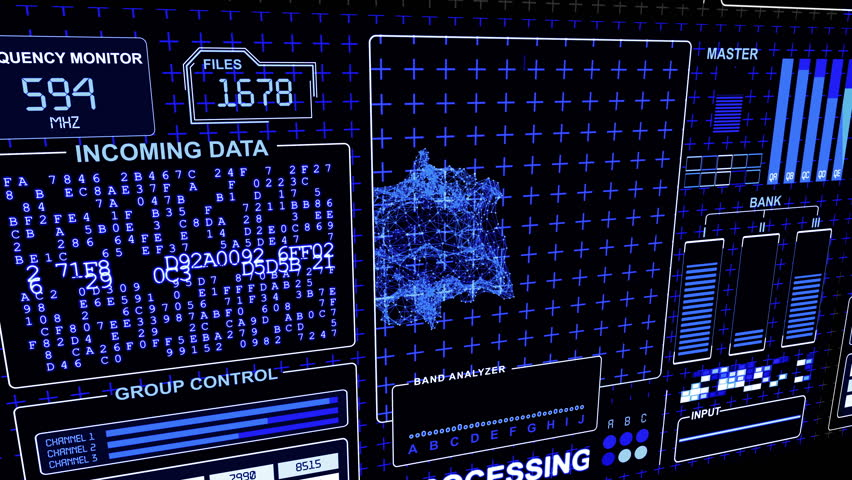HUD Futuristic technological interface - see my portfolio for other options | Shutterstock HD Video #29686492