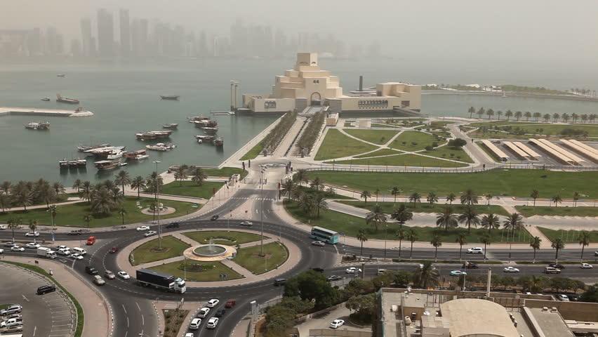 Qatar, Doha Corniche, Museum of Islamic Arts, West Bay, Persian Gulf, Arabian