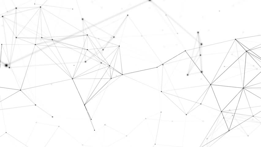 Network animation connected dots on white background. Seamless loop 4K  #29750992