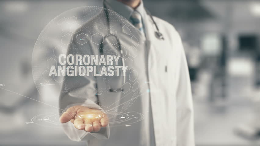 Doctor holding in hand Coronary Angioplasty