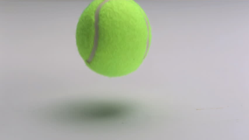 Stock Video Clip Of Tennis Ball Slow Motion Dropping And