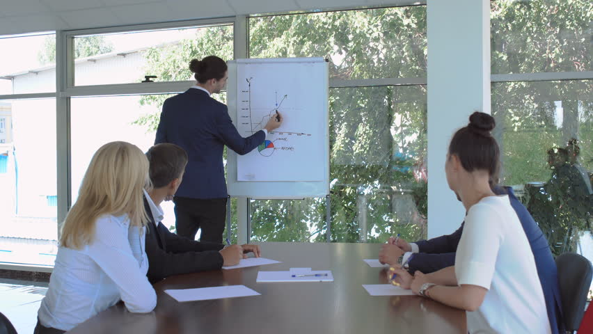 Businesspeople are looking at the colleague's presentation during the conference | Shutterstock HD Video #29856232