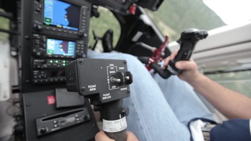 Inside the cockpit of the helicopter. Dashboard | Shutterstock HD Video #29874430