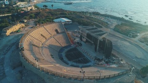 The Roman amphitheater in Caesarea