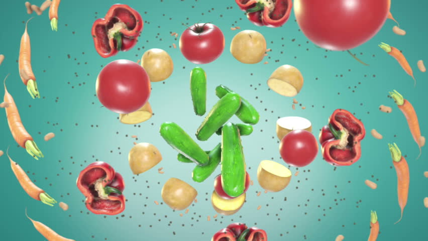 The Food In Motion motion graphic is a great high quality animation of food flying in the air. This video will work great in cooking shows or any food themed project.    | Shutterstock HD Video #29878192
