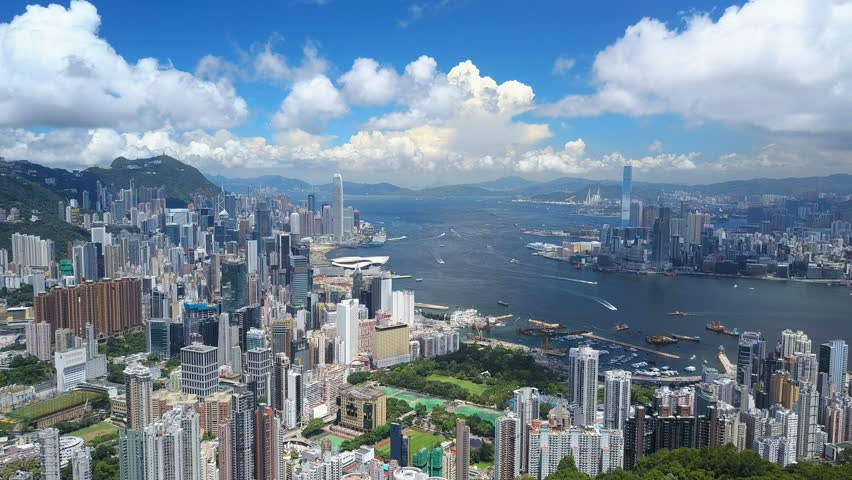 4k aerial video of Victoria Harbour in Hong Kong | Shutterstock HD Video #29892112